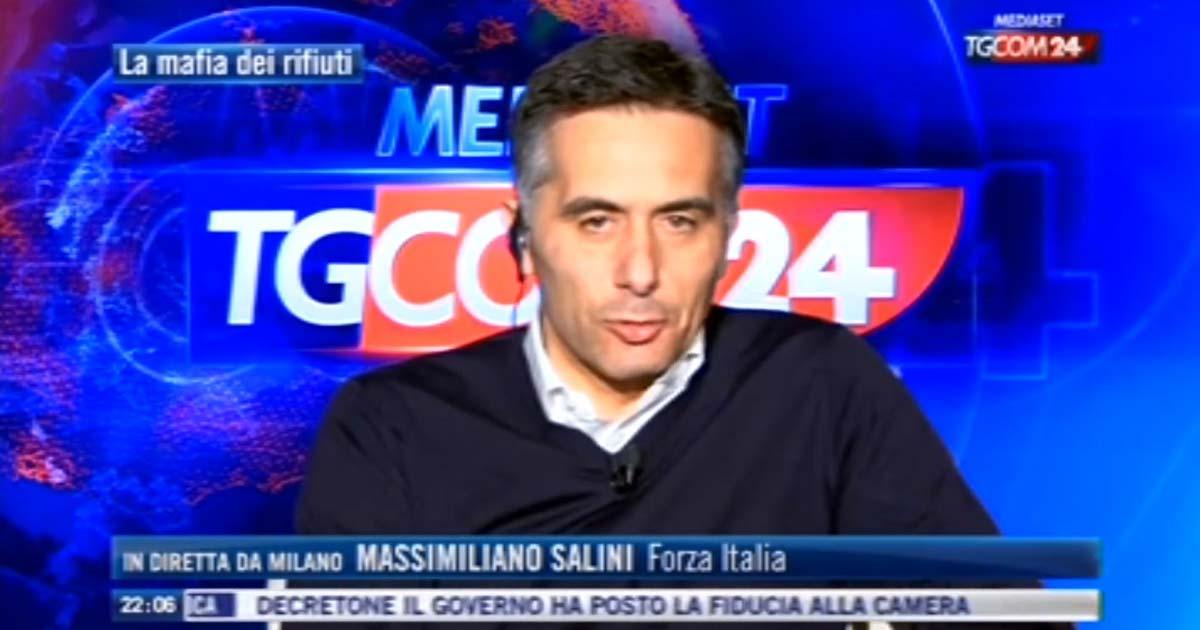 Massimiliano Salini in diretta a TGCOM 24