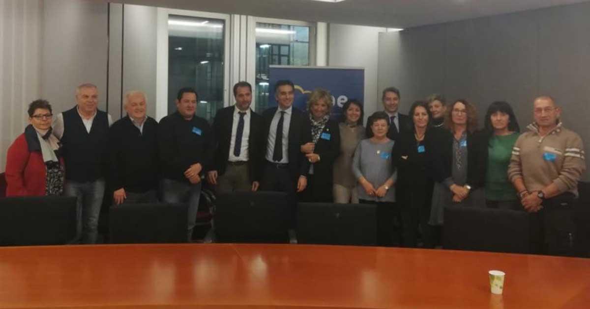 Incontro a Bruxelles con un'associazione benefica di Lecco