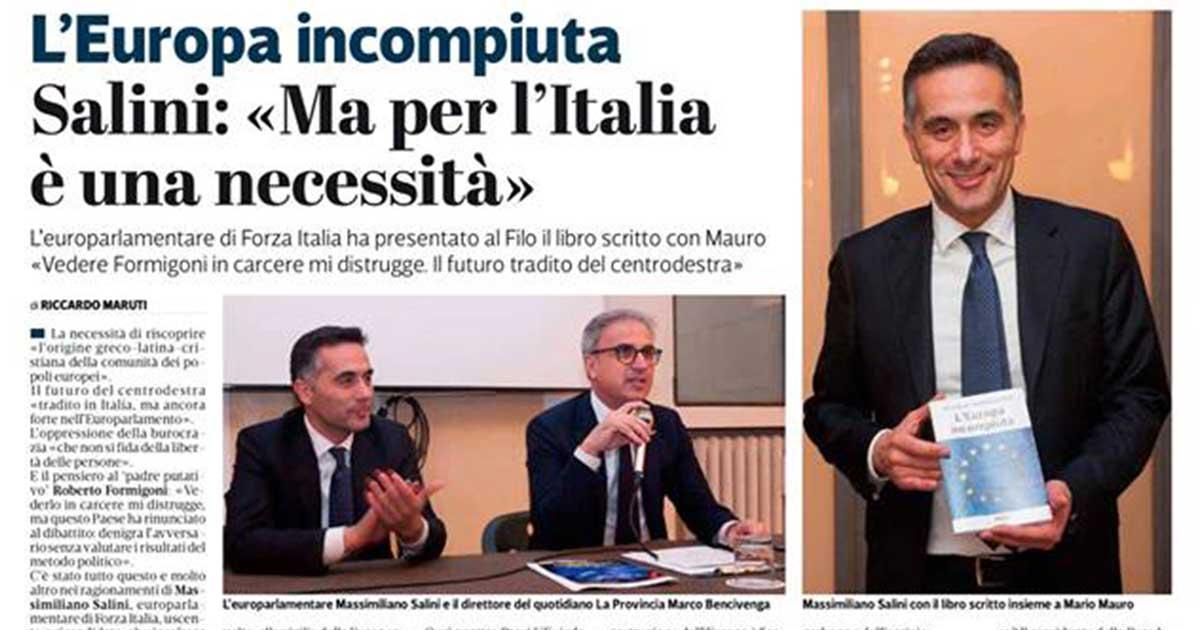A Cremona per la presentazione del libro Europa Incompiuta