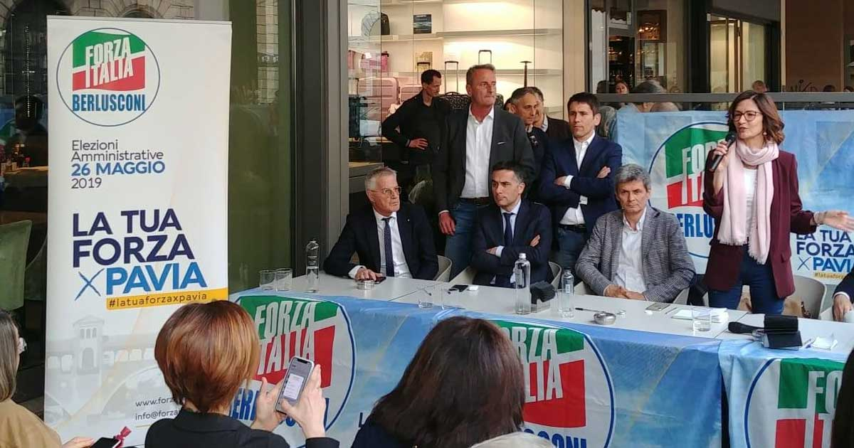 Pavia, alla presentazione della lista di Forza Italia